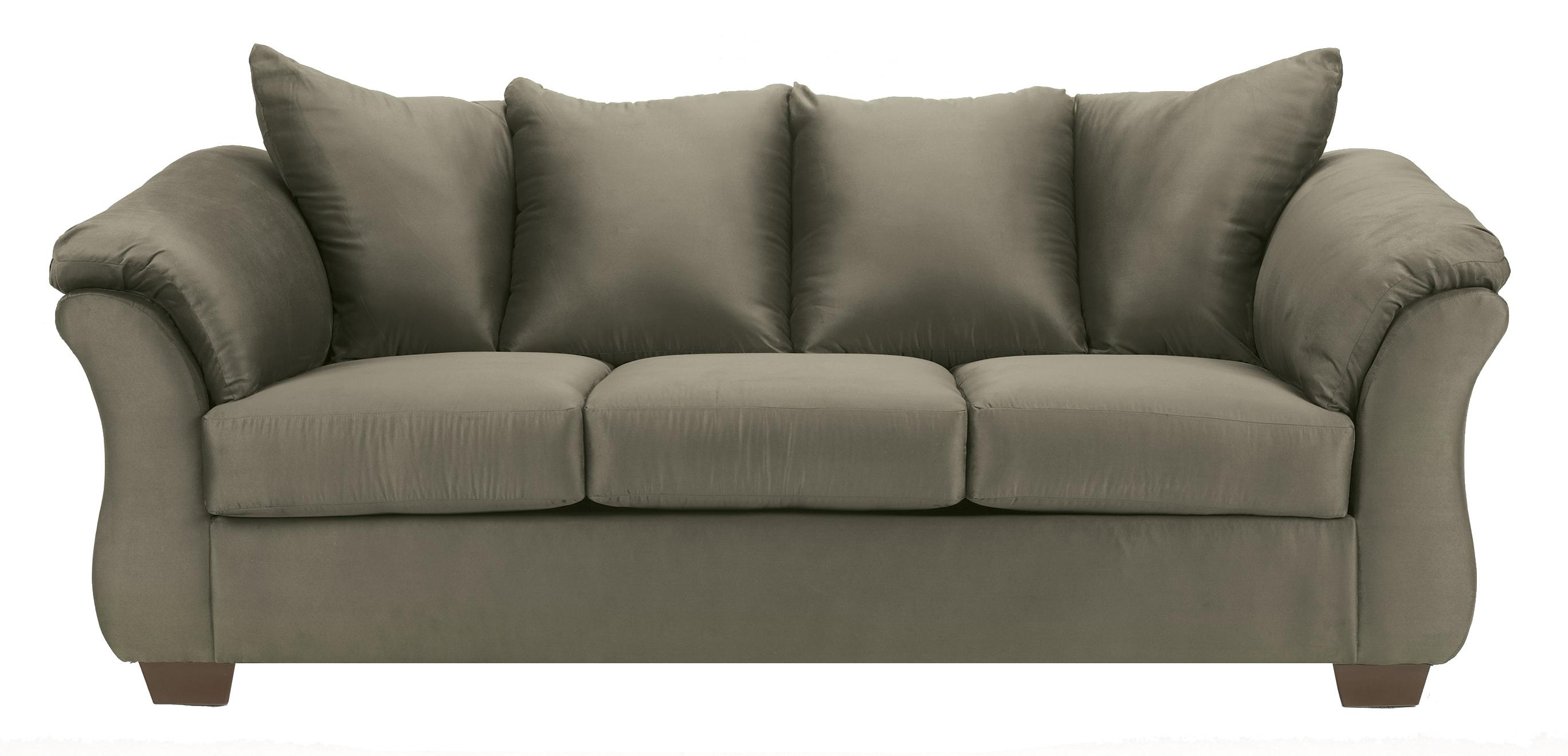 Signature Design by Ashley Furniture Darcy - Sage Stationary Sofa - Item Number: 7500338