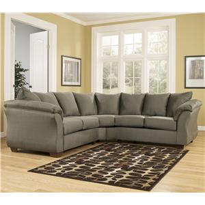Ashley (Signature Design) Darcy - Sage Sectional Sofa