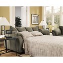 Signature Design by Ashley Darcy - Sage Contemporary Full Sofa Chaise Sleeper with Flared Back Pillows