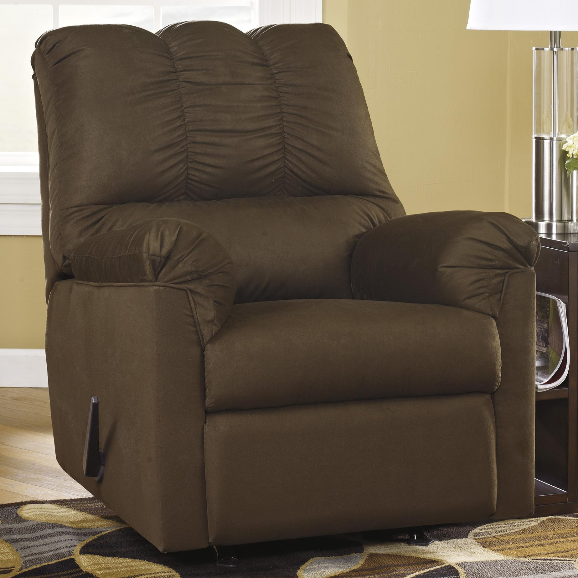 Ashley Furniture Recliners: Ashley Signature Design Darcy - Cafe 7500425 Rocker Recliner