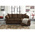 Signature Design by Ashley Darcy - Cafe Contemporary Full Sofa Chaise Sleeper with Flared Back Pillows