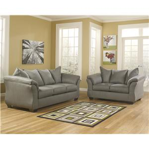 Ashley Signature Design Darcy - Cobblestone Stationary Living Room Group