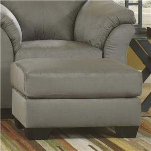 Signature Design by Ashley Furniture Darcy - Cobblestone Ottoman