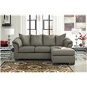 Signature Design by Ashley Darcy - Cobblestone Chaise Sofa, Ottoman and Recliner Set - Item Number: 7500518+25+14