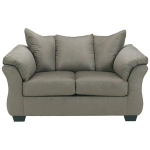 Ashley (Signature Design) Darcy - Cobblestone Stationary Loveseat