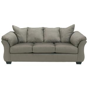 Benchcraft Darcy - Cobblestone Stationary Sofa
