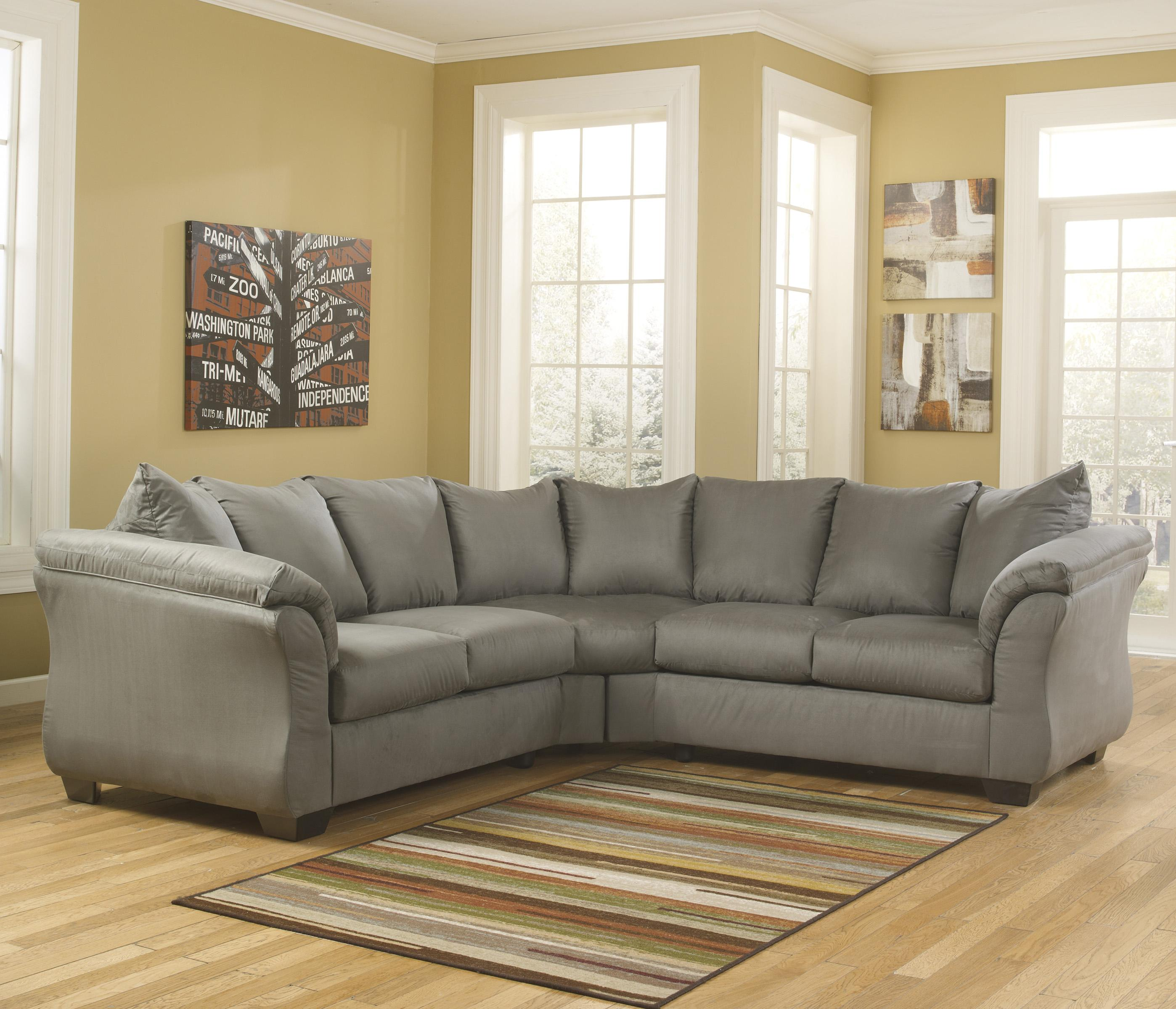 Signature Design by Ashley Darcy - Cobblestone Sectional Sofa - Item Number: 7500555+56