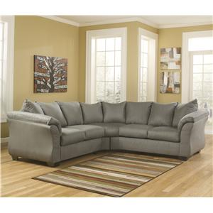 Ashley (Signature Design) Darcy - Cobblestone Sectional Sofa