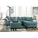 Signature Design by Ashley Darcy - Sky Stationary Living Room Group - Item Number: 75006 Living Room Group 11