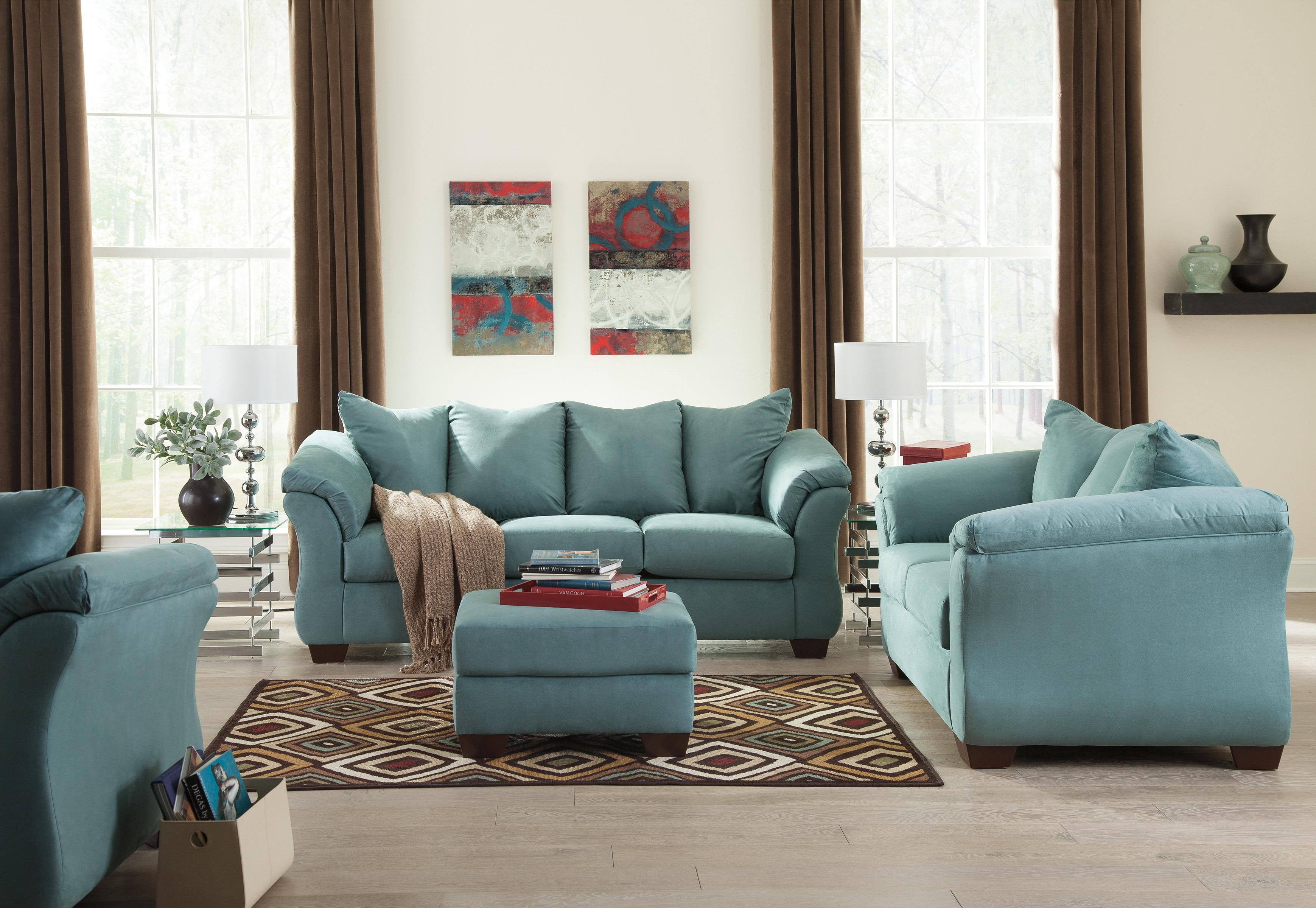 living with ashley sets simple talentneeds sofa flower wallpaper coleman black com furniture and room