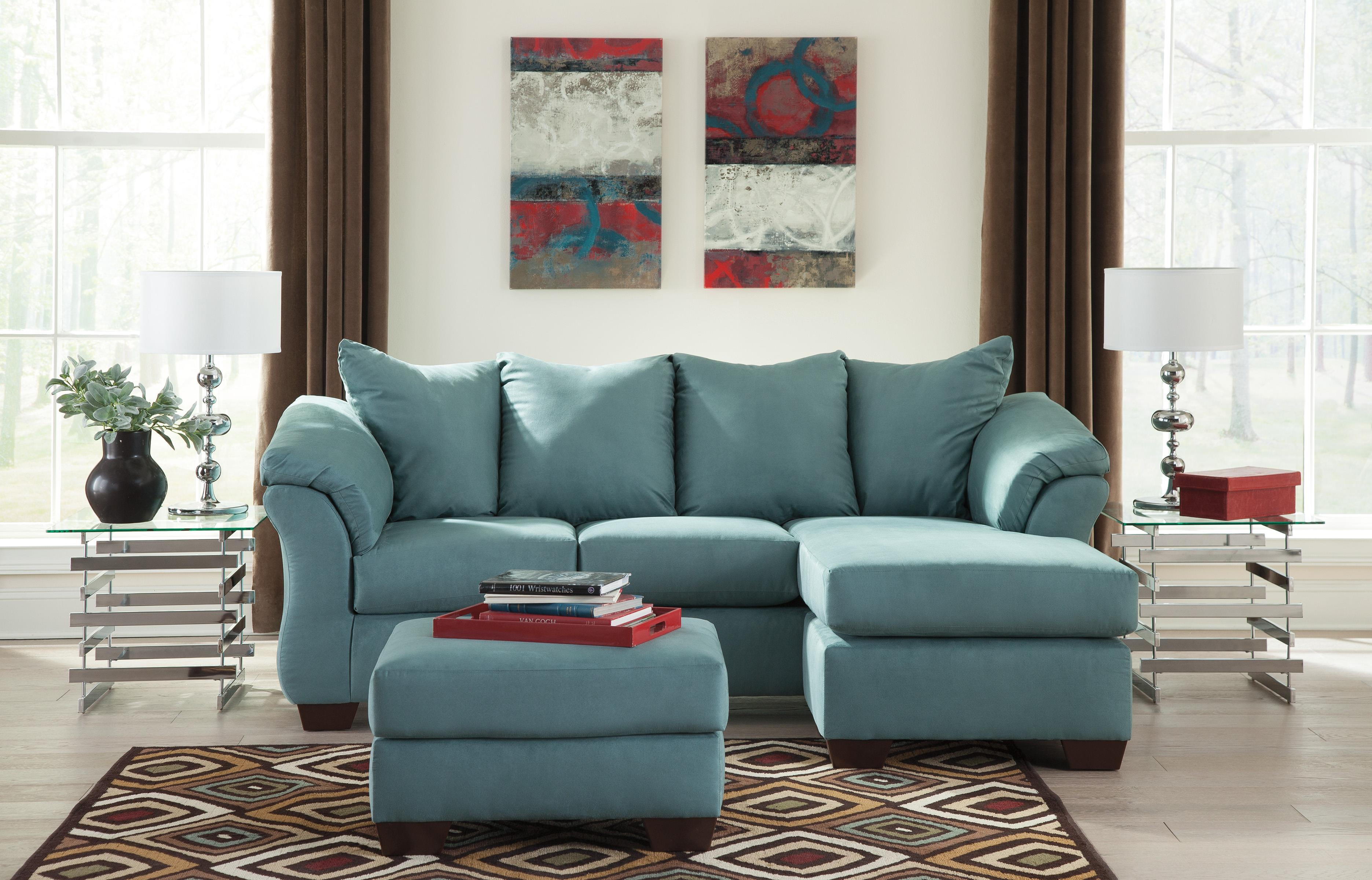 Sky 7500614 Contemporary Ottoman With Tapered Legs
