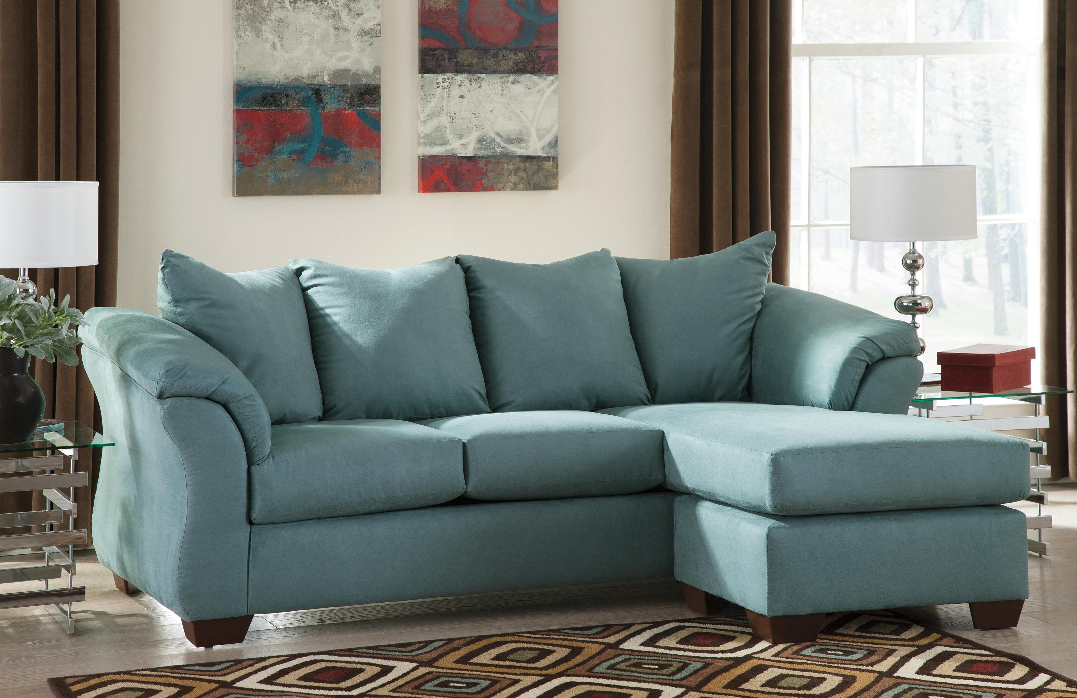 Signature design by ashley darcy sky contemporary sofa for Ashley furniture lucia sofa chaise