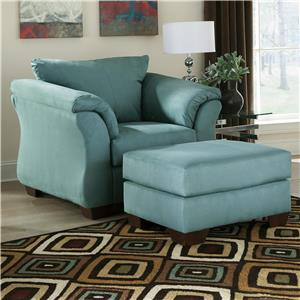 Signature Design by Ashley Darcy - Sky Upholstered Chair and Ottoman