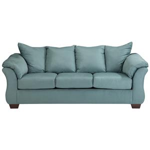 Benchcraft Darcy - Sky Stationary Sofa