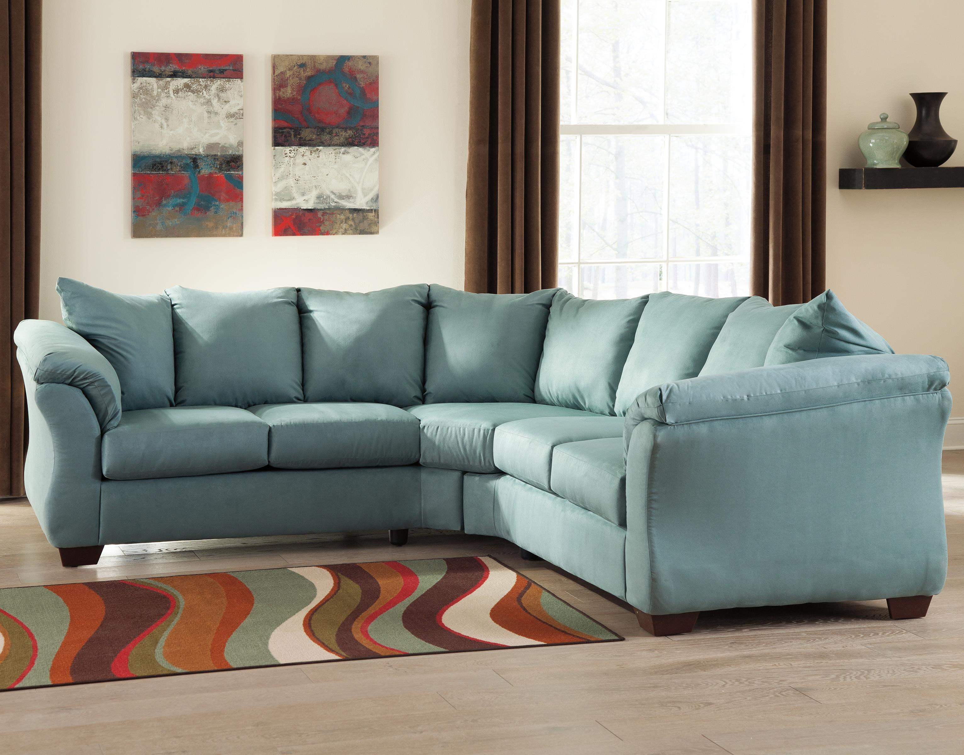 Awesome Darcy Sky Contemporary Sectional Sofa With Sweeping Pillow Arms By Signature Design By Ashley At Becker Furniture World Cjindustries Chair Design For Home Cjindustriesco