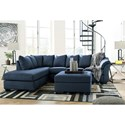 Signature Design by Ashley Darcy - Blue Stationary Living Room Group - Item Number: 75007 Living Room Group 10