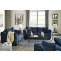 Ashley Signature Design Darcy - Blue Stationary Living Room Group - Item Number: 75007 Living Room Group 2