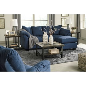 Ashley Signature Design Darcy - Blue Stationary Living Room Group