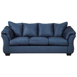 Signature Design by Ashley Darcy - Blue Stationary Sofa