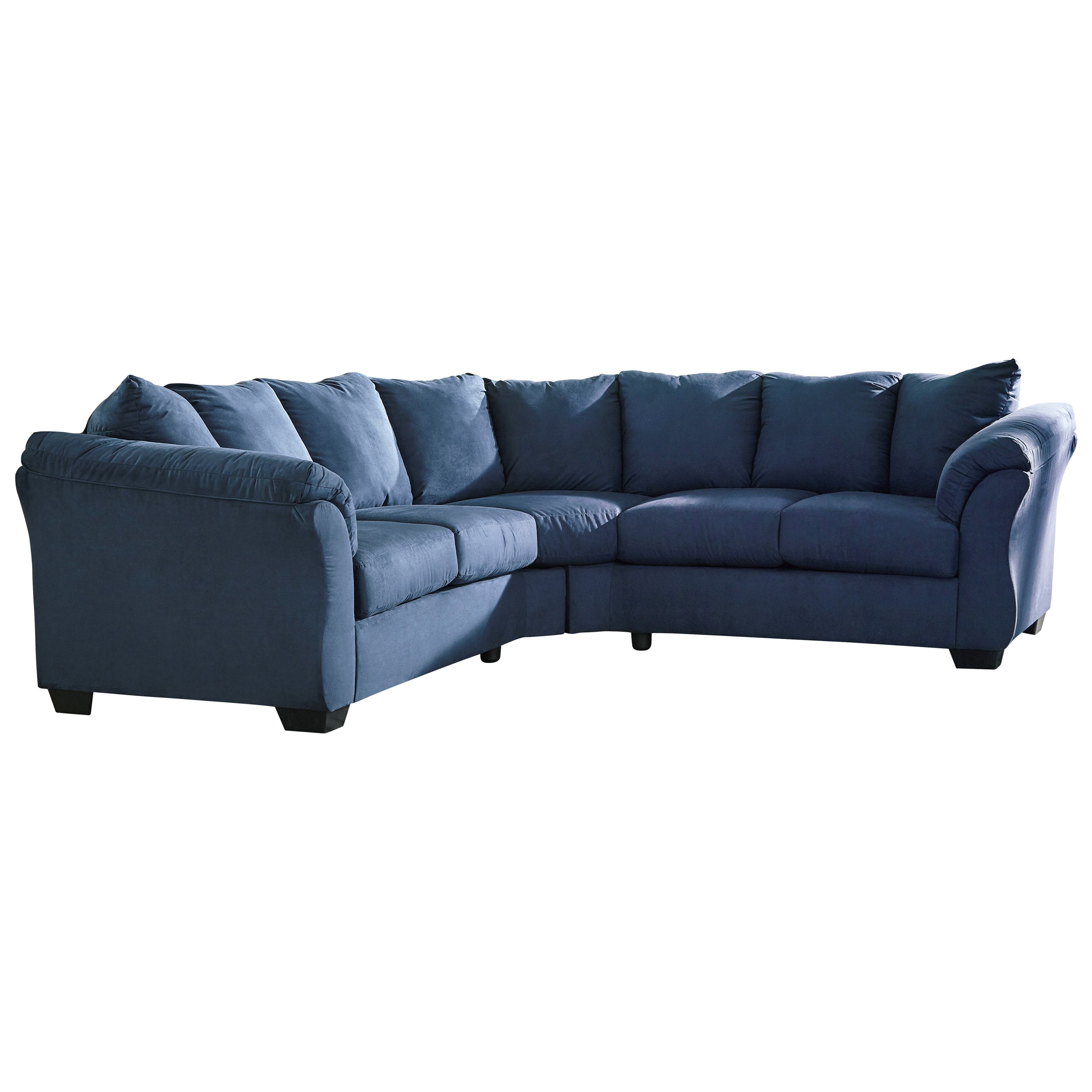 Signature Design by Ashley Darcy Blue Contemporary Sectional