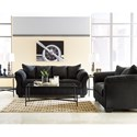 Signature Design by Ashley Darcy - Black Stationary Living Room Group - Item Number: 75008 Living Room Group 1