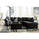 Signature Design by Ashley Darcy - Black Stationary Living Room Group - Item Number: 75008 Living Room Group 11