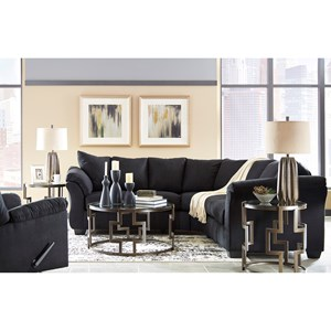 Signature Design by Ashley Darcy - Black Stationary Living Room Group