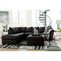 Signature Design by Ashley Darcy - Black Contemporary Oversized Accent Ottoman