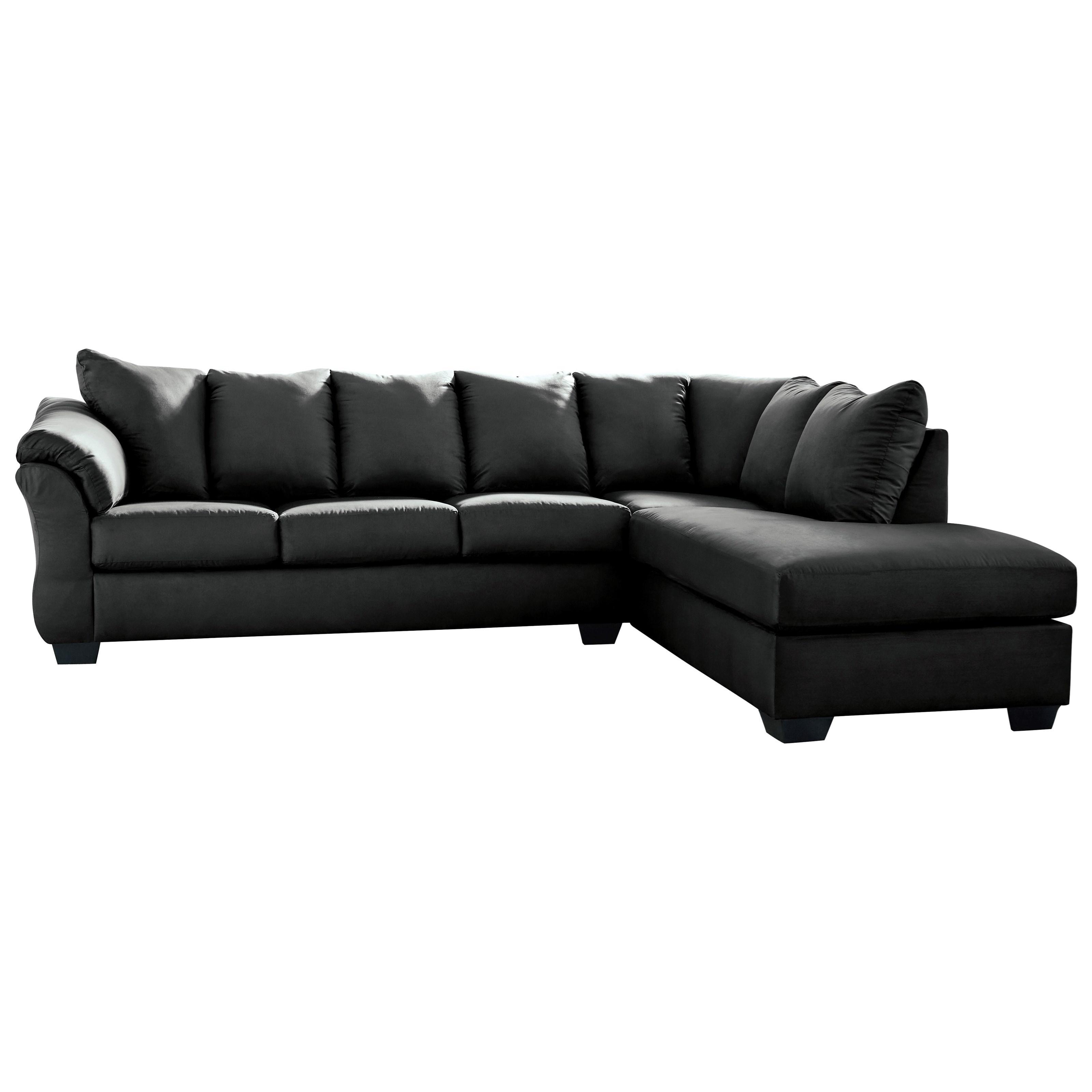 Ashley Signature Design Darcy - Black Contemporary Sectional Sleeper ...