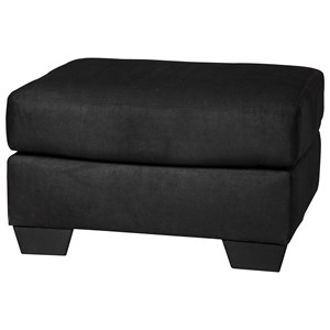 Signature Design by Ashley Darcy - Black Ottoman