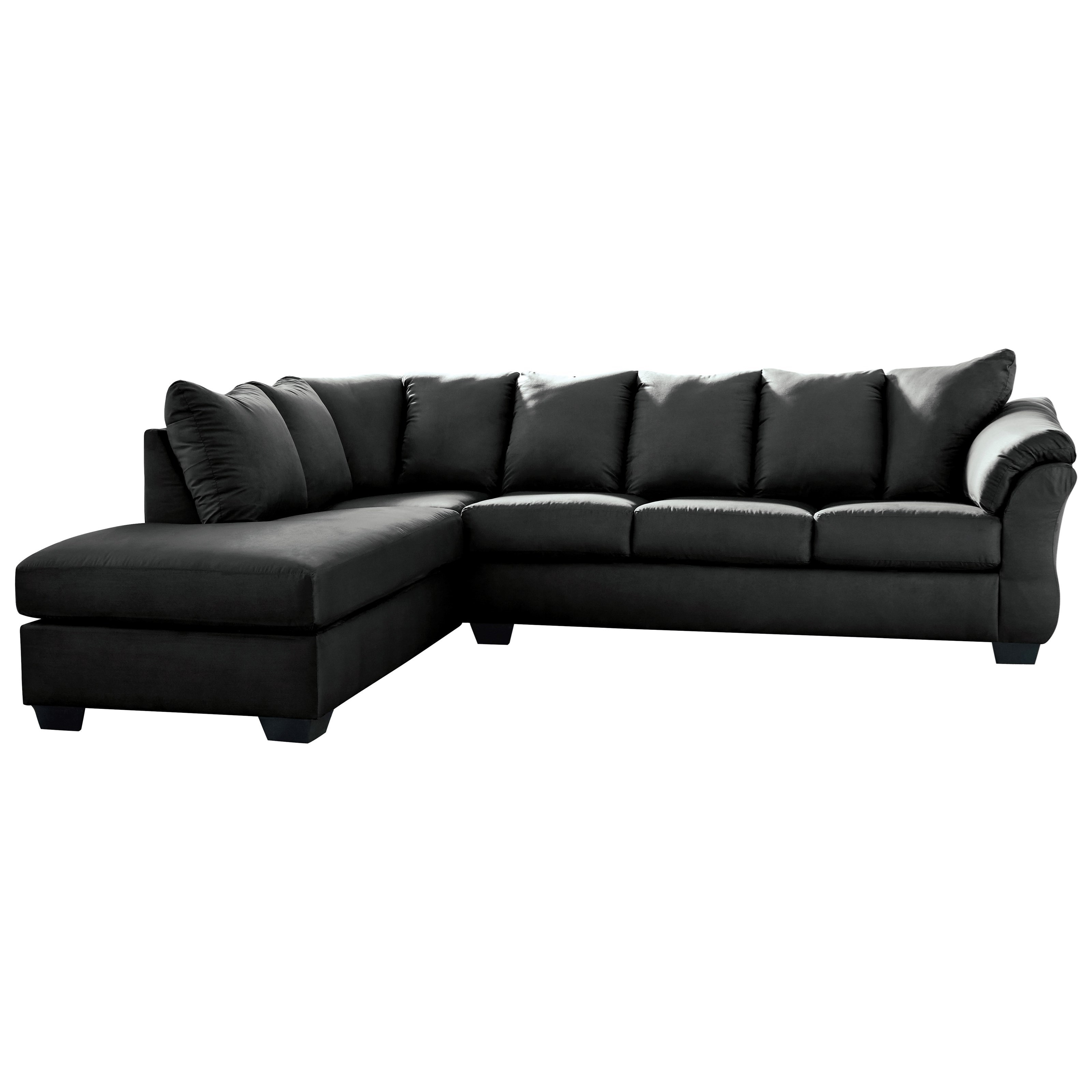Darcy - Black Contemporary Sectional Sleeper Sofa with Left Chaise by  Ashley Signature Design at Dunk & Bright Furniture