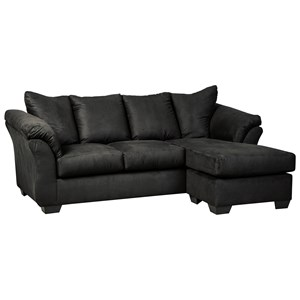 Signature Design by Ashley Darcy - Black Sofa Chaise