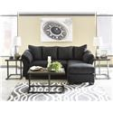 Signature Design by Ashley Darcy - Black Chaise Sofa and Chair Set - Item Number: 7500818+20