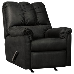 Signature Design by Ashley Darcy - Black Rocker Recliner