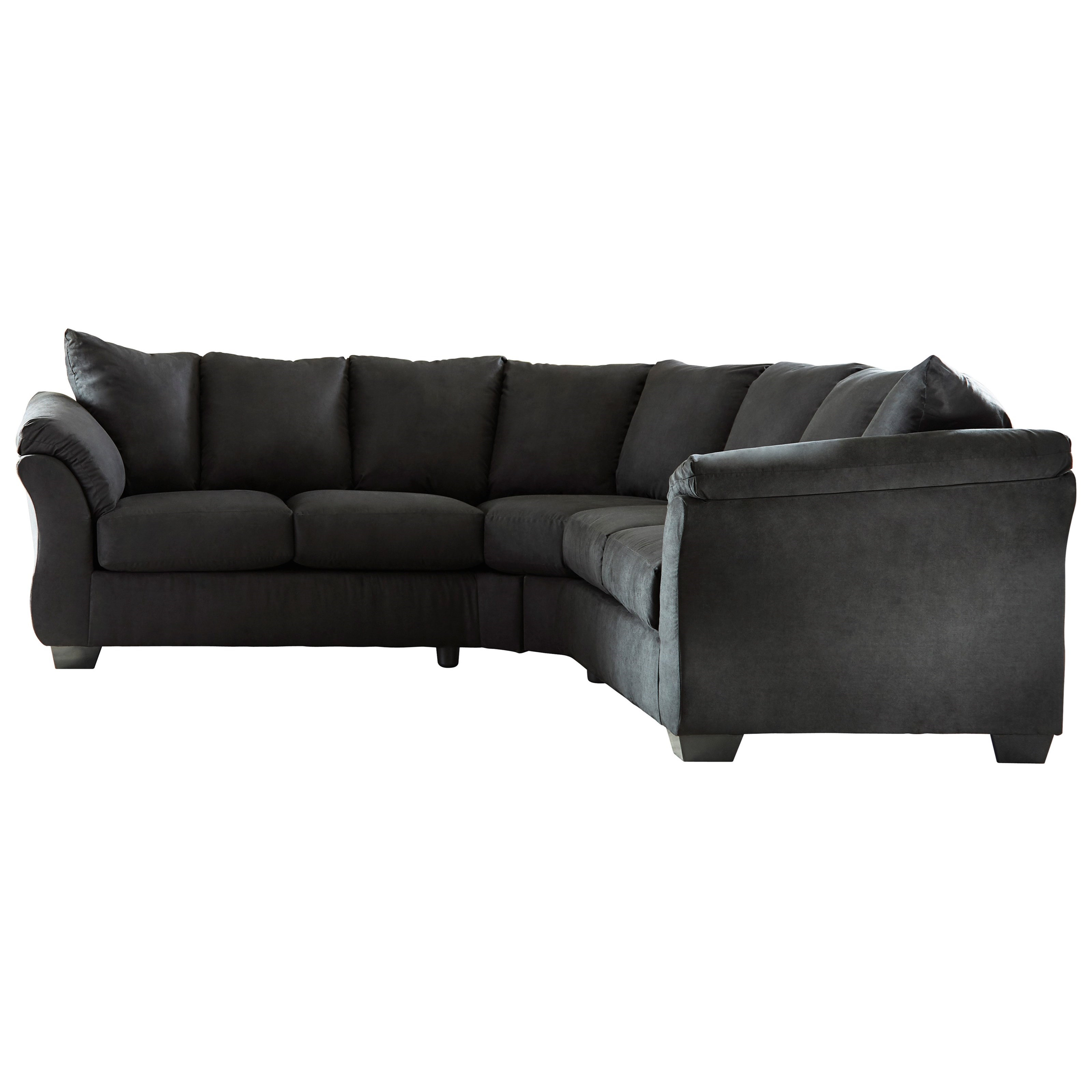 Signature Design by Ashley Darcy - Black Sectional Sofa - Item Number 7500855+56  sc 1 st  Wayside Furniture : black sectional couch - Sectionals, Sofas & Couches