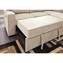 Signature Design by Ashley Darton Sofa Chaise with Pop Up Bed & Storage Chaise