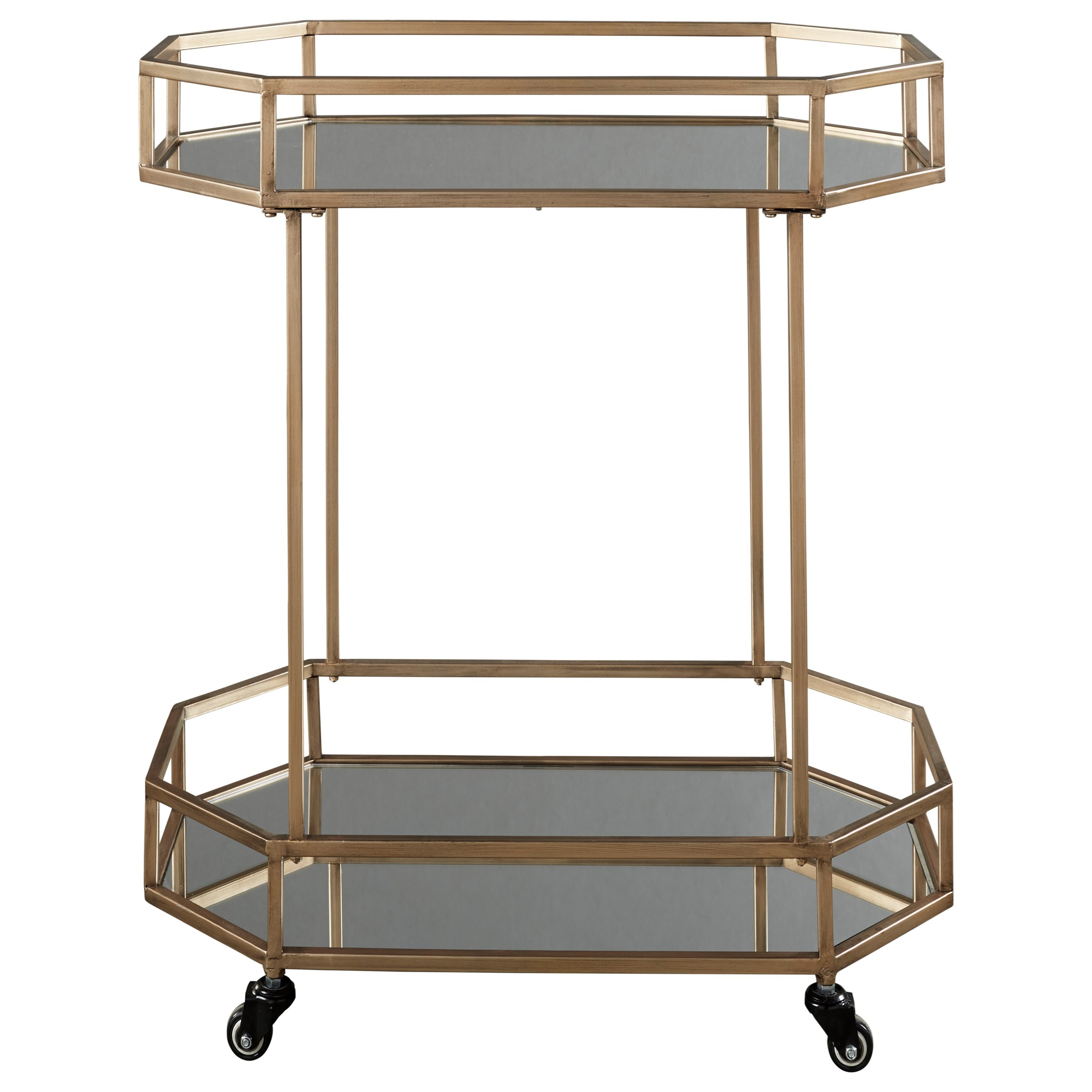 Daymont Bar Cart by Signature Design by Ashley at HomeWorld Furniture
