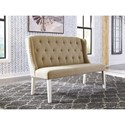 Signature Design by Ashley Dazzelston Upholstered Bench with Nailhead Trim