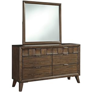 Signature Design by Ashley Debeaux Dresser with Six Drawers and Mirror