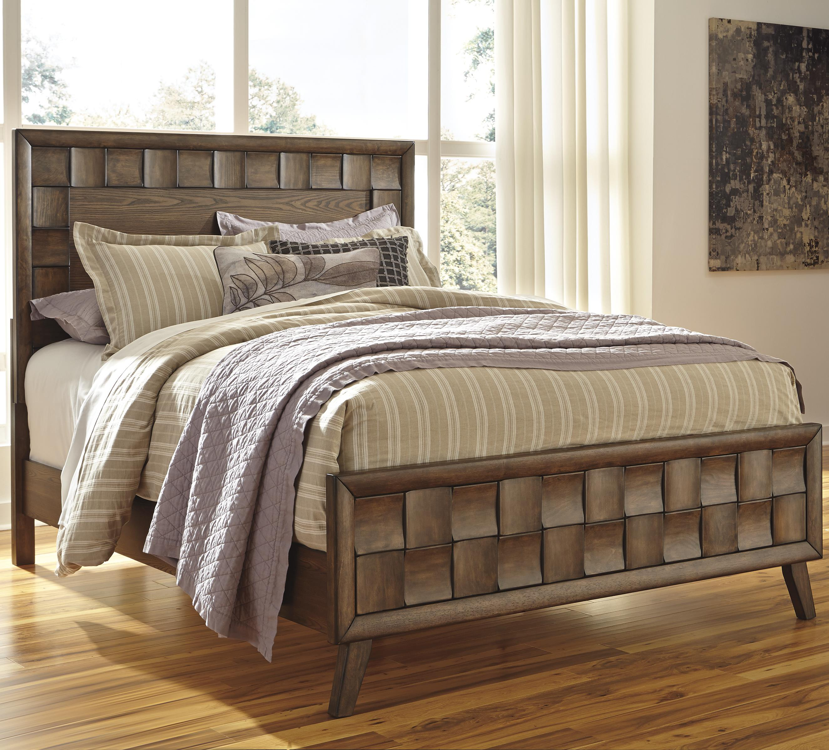 Signature Design by Ashley Debeaux Queen Wood Panel Bed - Item Number: B535-57+54+96