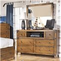 Signature Design by Ashley Cole Mirror in Rustic Pine