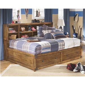 Signature Design by Ashley Delburne Full Bookcase Bed with Footboard Storage