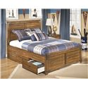 Signature Design by Ashley Cole Full Platform Pedestal Bed with Storage