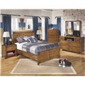Signature Design by Ashley Delburne Full Panel Bed in Rustic Pine