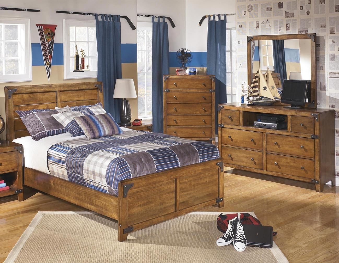 Signature Design by Ashley Cole 3PC Full Bedroom Set - Item Number: B362-FB+21+26