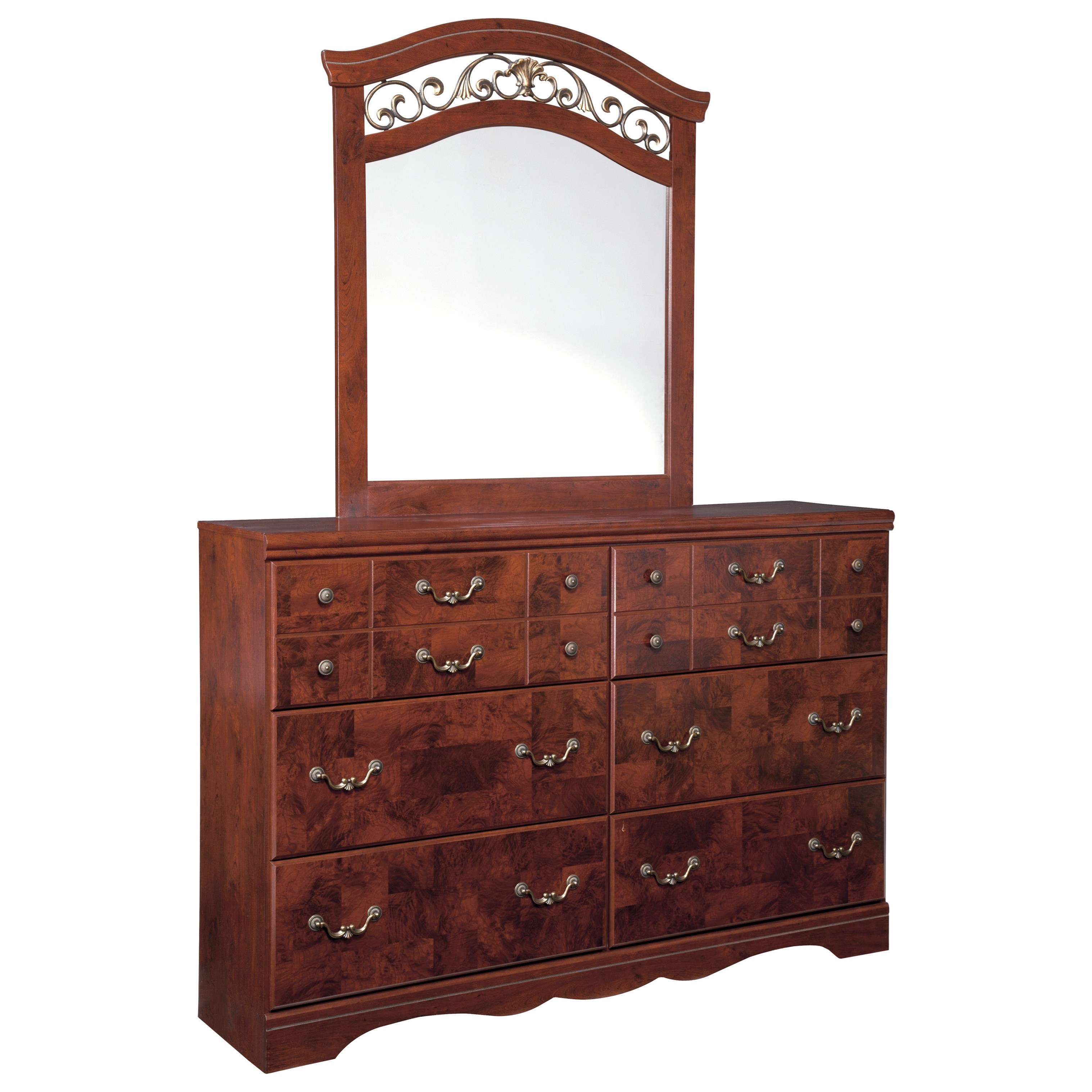 Signature Design by Ashley Delianna Dresser & Bedroom Mirror - Item Number: B223-31+36
