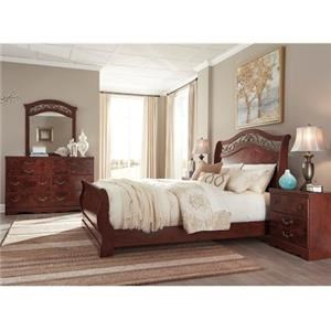 Signature Design by Ashley Delianna Queen Bed, Dresser, Mirror and Nightstand