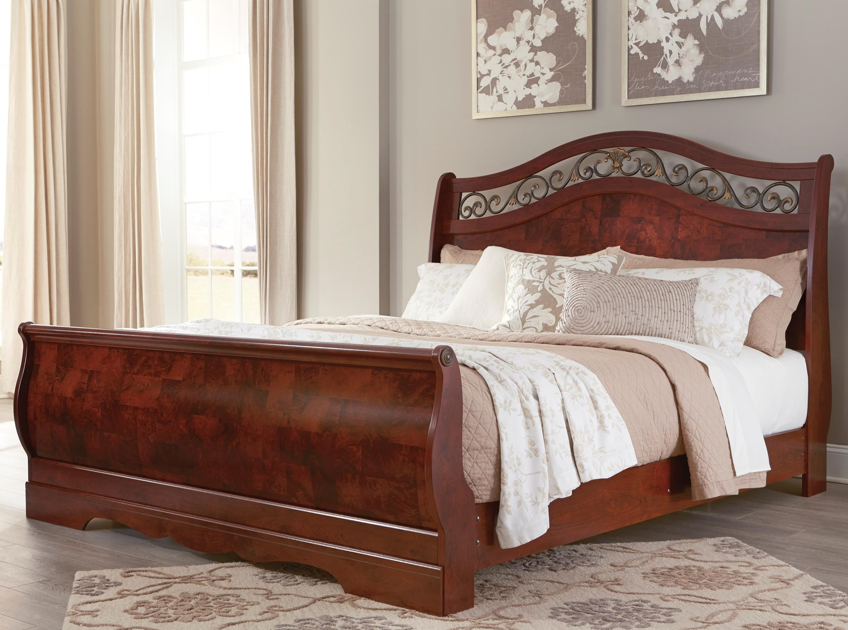 Signature Design by Ashley Delianna King Sleigh Bed - Item Number: B223-78+76+97
