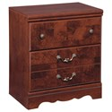 Signature Design by Ashley Delianna Two Drawer Night Stand - Item Number: B223-92