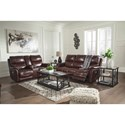 Signature Design by Ashley Dellington Power Reclining Living Room Group - Item Number: U11505 Living Room Group 1